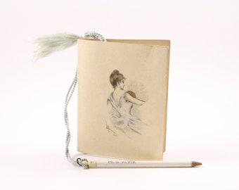 1900s dance card