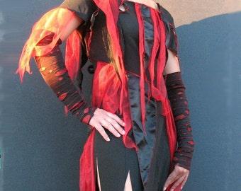 CUSTOM XL XXL 3X 4X Plus size Bloody Gauntlet Zombie Sleeve women zombie costume - Goth halloween costume adult accessory zombie arm warmers
