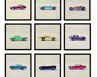 "Boys Hot Wheels and Matchbox Cars Nursery and Bedroom Home Decor Photo - ""Vroom, Vroom"" - Nine Square Fine Art Photography Prints"