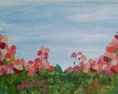 5x7 original floral abstr...