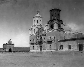 Poster, Many Sizes Available; Mission San Xavier Del Bac, Tucson, Arizona, Ca.1900