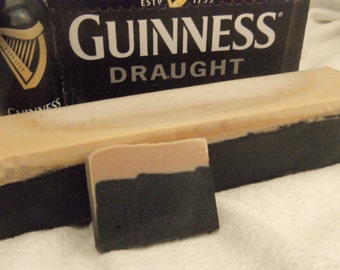 2 loaves of Beer Soap. DOUBLE the Guinness . MAKES 20 bars at 4.oz each Great for party favors Made to look like a pint of Beer. Guy Man