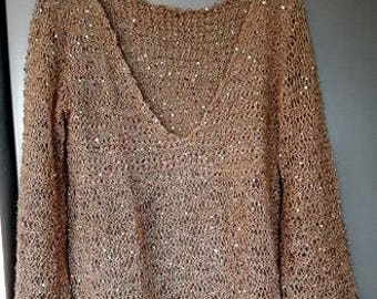 Festive sweater with sequins-size S