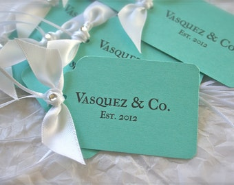 Bride & Co Personalized Tags, Wedding Favors, Thank you