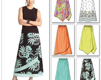 Butterick Sewing Pattern B4803 Misses'/Misses' Petite Gathered-Waist Skirts