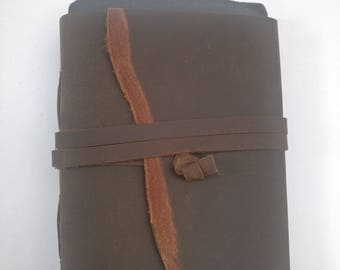 Vintage leather journal, oil pull leather journal, leather diary, handmade journal, vintage books