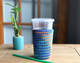 Iced Coffee Sleeve - Crochet Coffee Cup Sleeve - Frozen Coffee Sleeve
