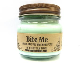 BIte Me Whipped Body Frosting 8 ounce Country Glass Jar - This is Incredible