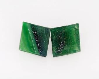 Earrings Color Emerald
