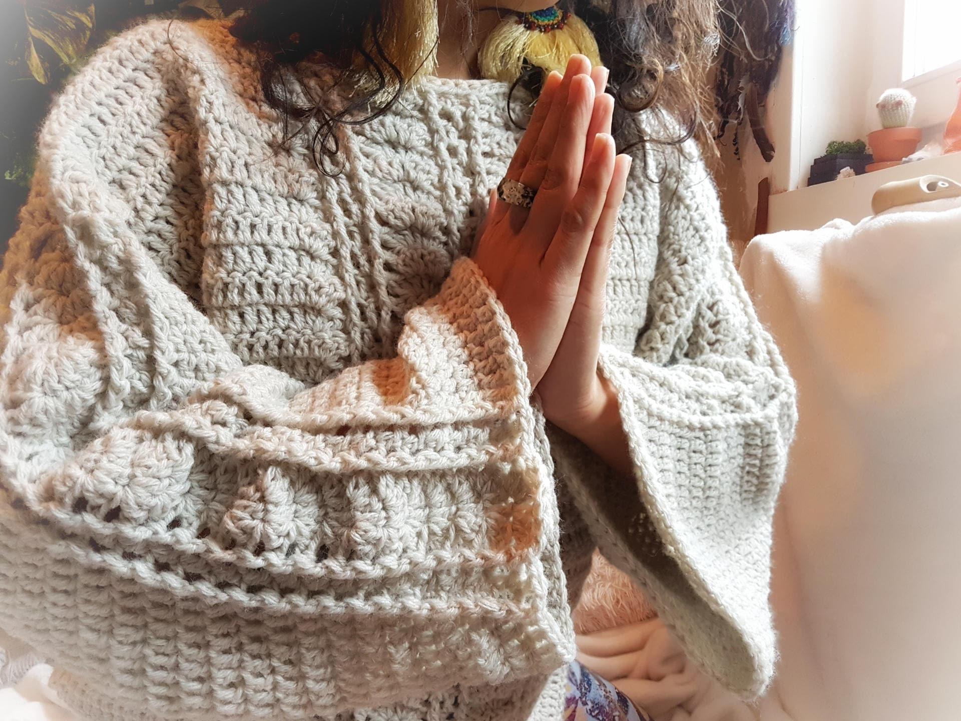 Crochet WRITTEN PATTERN Grandmother Moon Sweater/Crochet Pullover ...