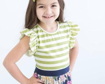 Girls summer dress, Girls boutique dress, girls striped dress, girls floral dress, boutique clothing, floral dress
