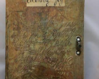 Textured journal - mixed media journal - writers journal - songwriters journal - poetry journal -diary-writers