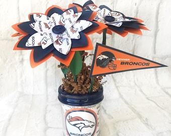 Denver Broncos Handmade Paper Flower Bouquet