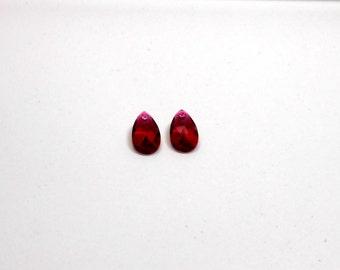 2 Ruby Swarovski Pendant,  16mm Swarovski Pear Shape Pendant, Supplies, Jewelry Supplies, Jewelry Making, Swarovski, Craft Making