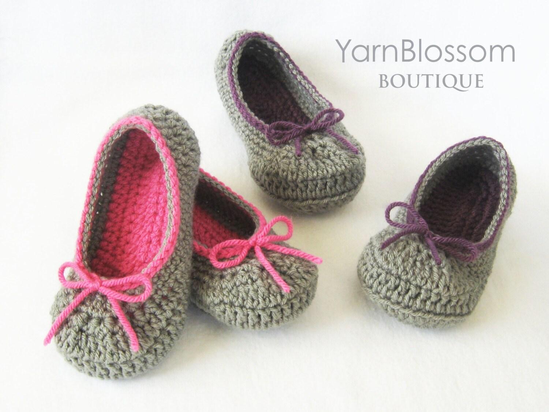Crochet Slippers PATTERN - The Kayla Slipper - PDF pattern house ...