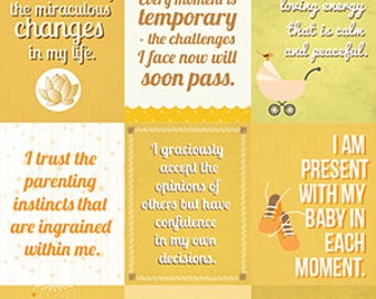 Instant download | Affirmations for mothers | Nursery decoration | ORANGE