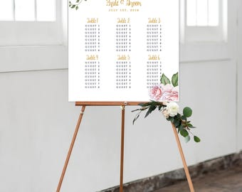 Seating Chart - Rose Garden (Style 0002)