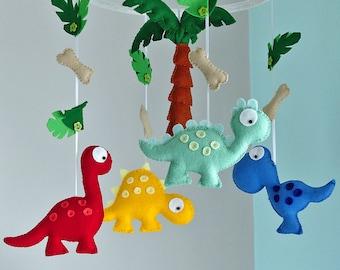 Dinosaur Mobile - Dinosaur Nursery - Felt Dinosaur - Baby Dinosaur - Made To Order