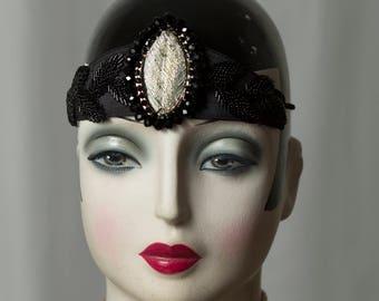 "Beautiful Gatsby-Flapper headband/Headpiece, Charleston, Glamour, Downtown Abbey, 20s/20s, ""roaring Twenties"""