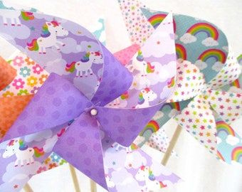 Unicorn Party Favors Unicorn Birthday Decorations Unicorn Party Adorable Unicorns Rainbows Flowers Balloons Hearts Kawaii Cuteness