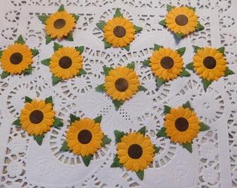 Handmade Paper Flowers Sunflowers - One Dozen
