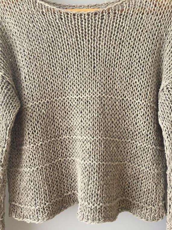 sweater linen sweater Bohemian sweater linen Tricoté uncolored pullover linen Boho lin Organic Natural pull sweater sweater Women Linen Knit dTw7c0qw8