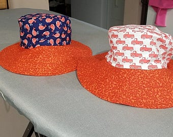 Whales and Trucks Reversible Bucket Hat