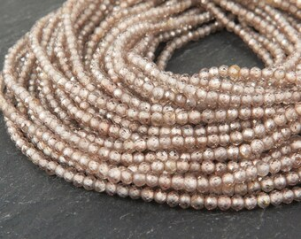 """AAA Champagne Zircon Faceted Rondelles 2mm ~ 13"""" Strand"""
