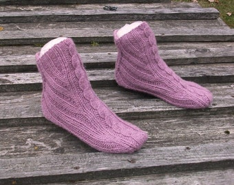 Hand knitted socks for women