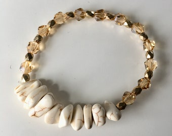 Howlite and Gold