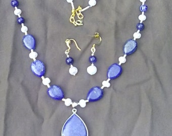 Lapis and Pearl Set