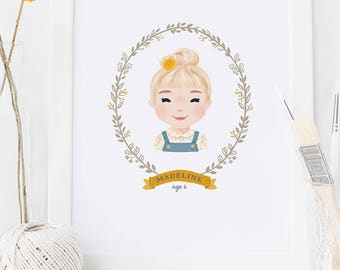 Portrait Illustration, Custom Portrait Illustration, Illustrated Portrait, Family Portrait
