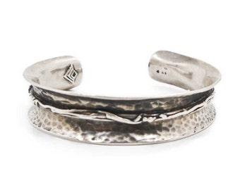 Silpada Sterling Silver Bracelet, Retired Design, Barbed Wire Cuff