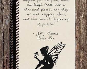 Peter Pan Notebook - Peter Pan Journal - The Beginnings of Fairies