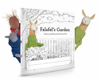 Falafel's Garden Eco-friendly Children's Book, Signed - 100% Recycled Paper, Printed with Vegetable Inks, Made in USA