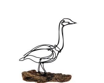 Goose Wire Sculpture, Wire Art, Minimal Wire Sculpture, Calder Inspired, 574906169