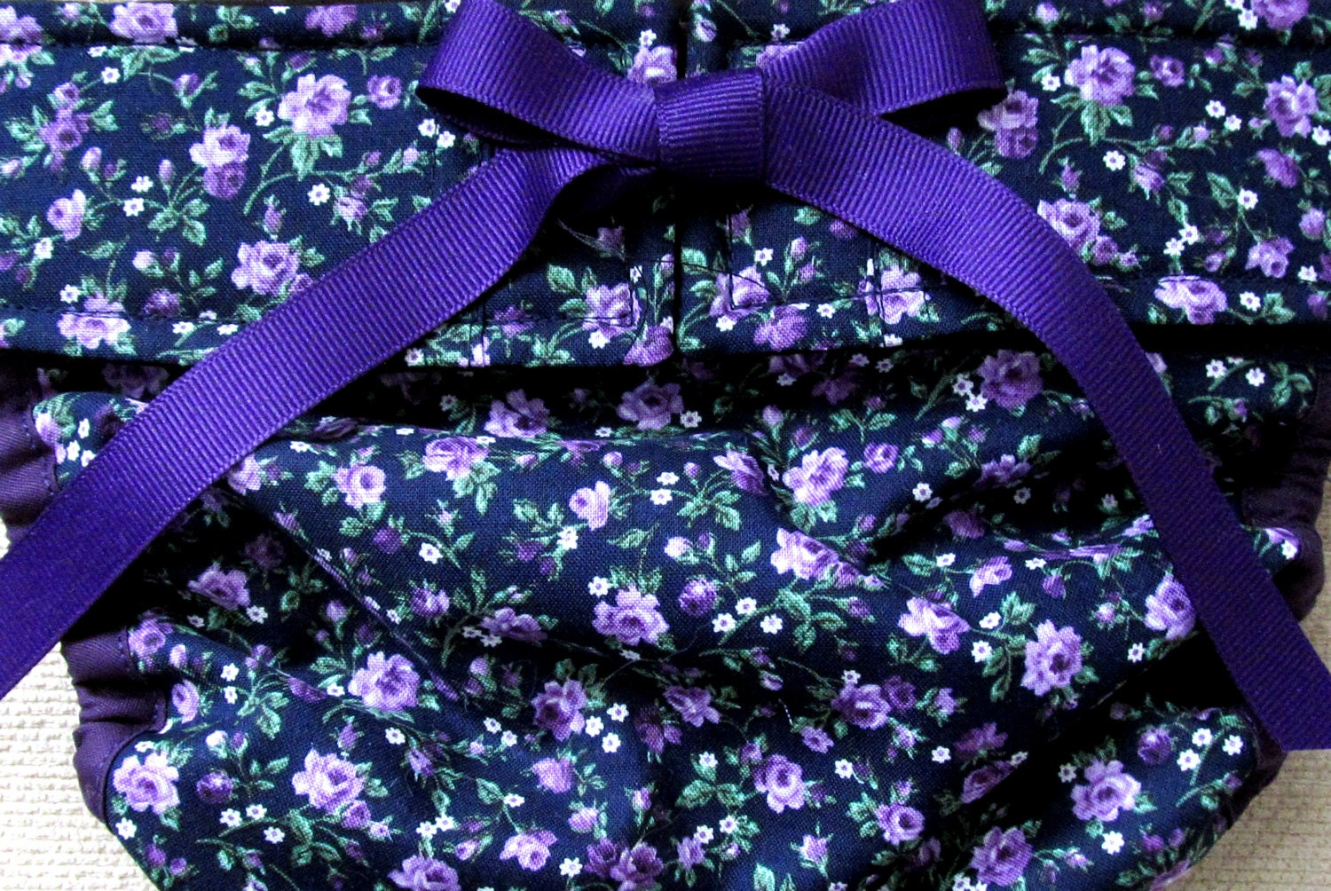 Dog Diapers Britches Or Panties Small Purple Flowers On Navy