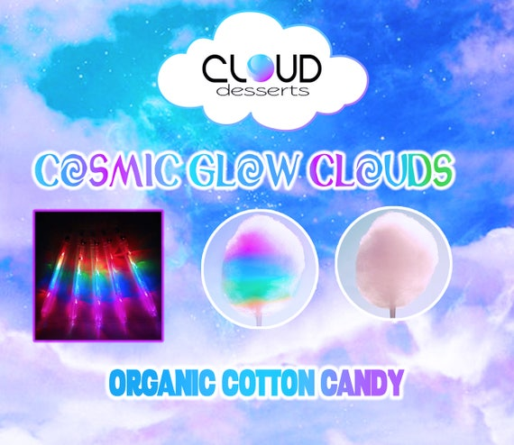 50 cosmic glow clouds organic cotton candy party