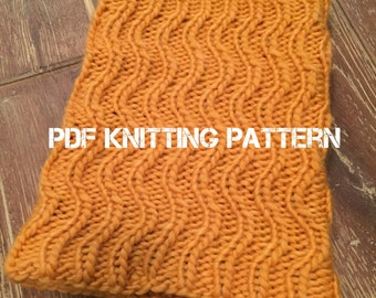 Gypsy Cowl PDF Knitting Pattern, Instant Download, Knit in the Round