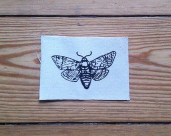 Moth Patch, sew on patch, punk patch