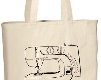 Tote Bag, Sewing Machine Tote Bag, Sewing Machine Bag, Party Favors, Party Gift Bags, Reusable, Carry All Bag, Travel Bag, Custom Tote Bags