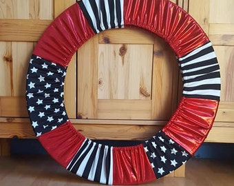 RTS Rhythmic Hula Hoop Festival Flow Cover Red White Black Circus up to 36""