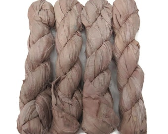 New! Sari Silk Ribbon, 100g , Hush Beige