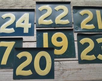 Vintage Metal Numbers