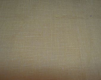 Fabric - Pure Linen, Yellow, Gold, Sewing, Pillow covers, Quilting, Home Decor, Crafts