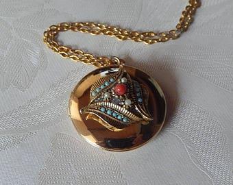Locket, Vintage Repurposed Necklace, Working Locket, Gift for Her