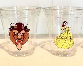 12 Beauty & the Beast 12 oz disposable party cups