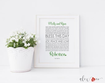 Personalized Irish Wedding Blessing Printable. Irish Wedding Printable. Irish Wedding Gift. Irish Anniversary Gift. Irish Blessing. Wedding.