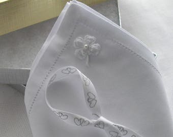 Shamrock Men's Pocket Handkerchief Wedding Keepsake Gift Groom Father Of The Bride Groomsmen Uncle Hankie Good Luck Cotton Handcraftusa Etsy