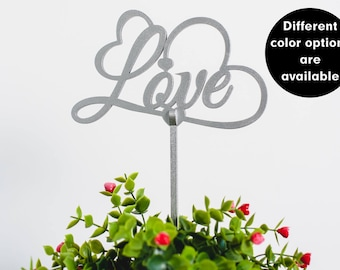 LOVE Wedding cake topper, Gold wedding cake topper, Silver wedding cake topper
